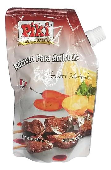 Piki Aderezos Peruanos (Peruvian Marinated Seasonings) Doypack Bags (Aderezo para Anticucho (Beef