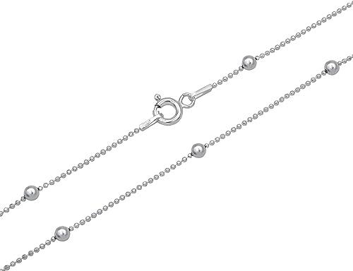 Kugelkette 3 mm für Anhänger Silber 925 Sterling Kette Länge wählbar 50-55-60cm