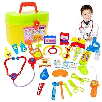 Juego Juguetes Médico Medicina Simulación Bebé Atención Estetoscopio Médica 30pcs Educativos,internet Niños De Caja edorCxB