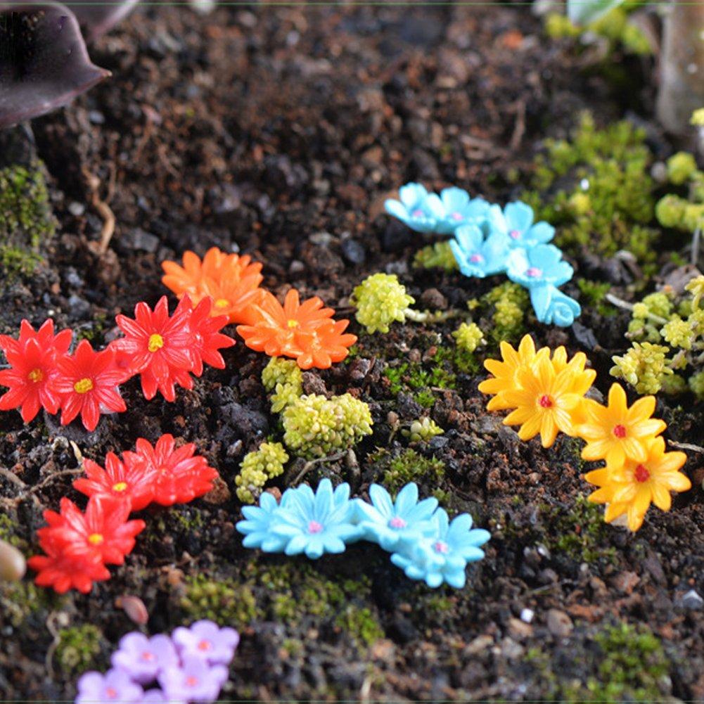 10x Dollhouse Miniature Flowers In Pot Fairy Garden Landscape DIY Decoration