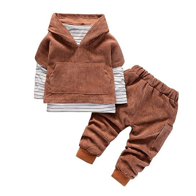 03efa43e0 BOBORA - Conjunto Deportivos - Manga Larga - para bebé Niño Marrón Caqui M:  Amazon.es: Ropa y accesorios