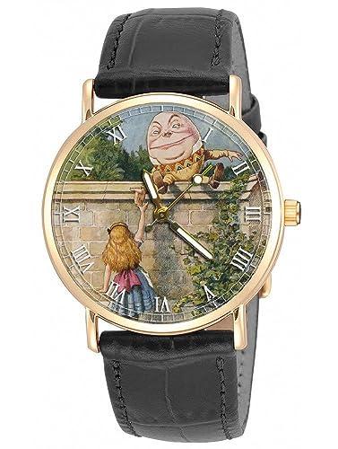 Alicia en el país de las maravillas, hermoso reloj de pulsera original de Lewis Caroll Art Humpty Dumpty: Amazon.es: Relojes