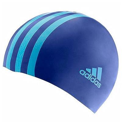 Adidas 3 Stripe Junior Silicone Cap - Cobalt / Supcya