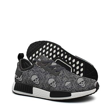833026e6b1e0b Amazon.com  Wallpaper Skull Logo tennis gym trail running shoes for men nmd  r1 pk  Clothing