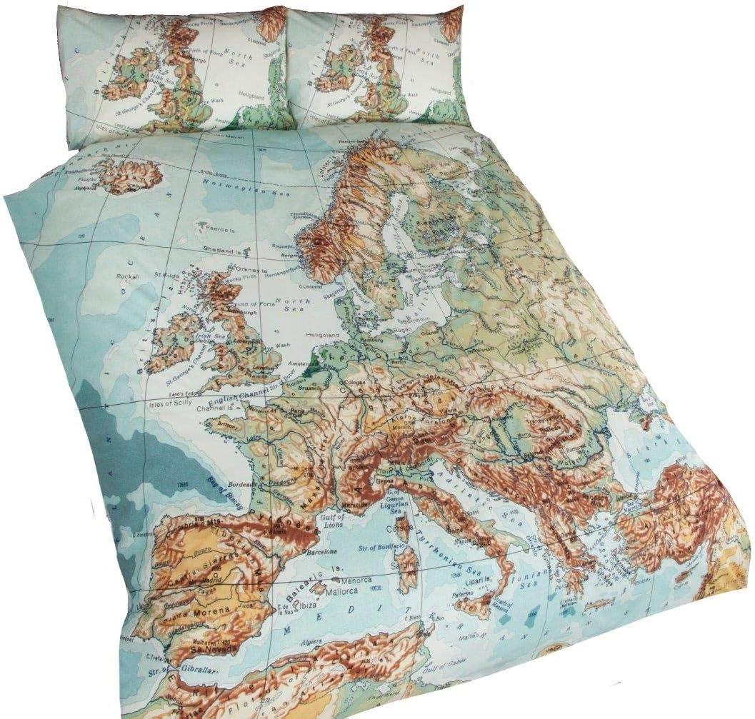 EUROPEAN CITIES USA QUEEN SIZE (230CM X 220CM - UK KING SIZE) COTTON BLEND COMFORTER COVER #PAMEGATNIV