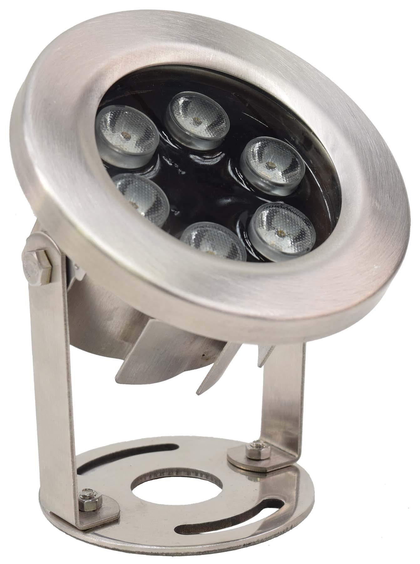 EasyPro+ Pond Lighting Submersible LED9WW 9 Watt Stainless Steel Underwater LED Light