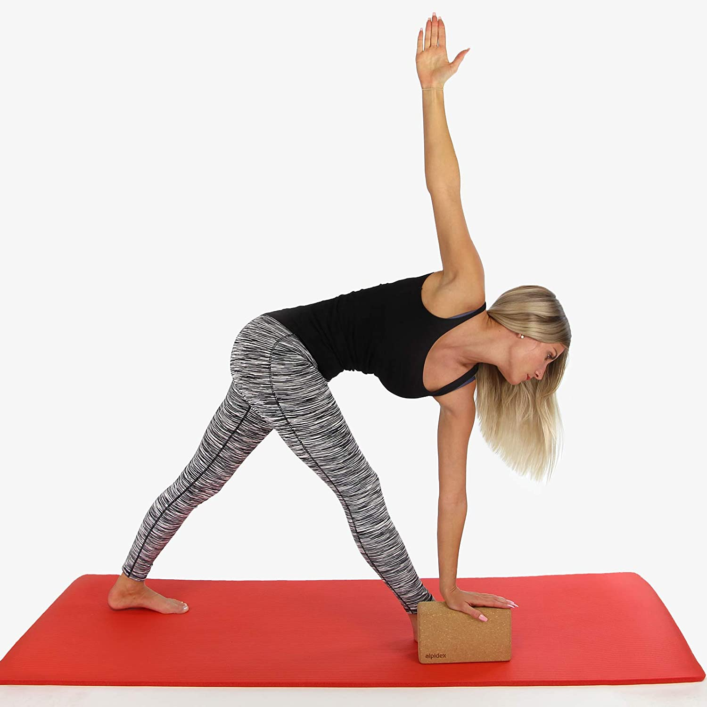 ALPIDEX Bloque de Corcho Yoga Block Cork Ladrillo Natural ...