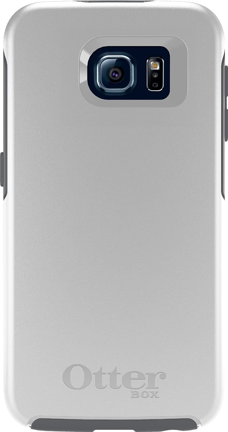 OtterBox Symmetry Series Slim Case for Samsung Galaxy S6 - Non-Retail Packaging - Gray/White