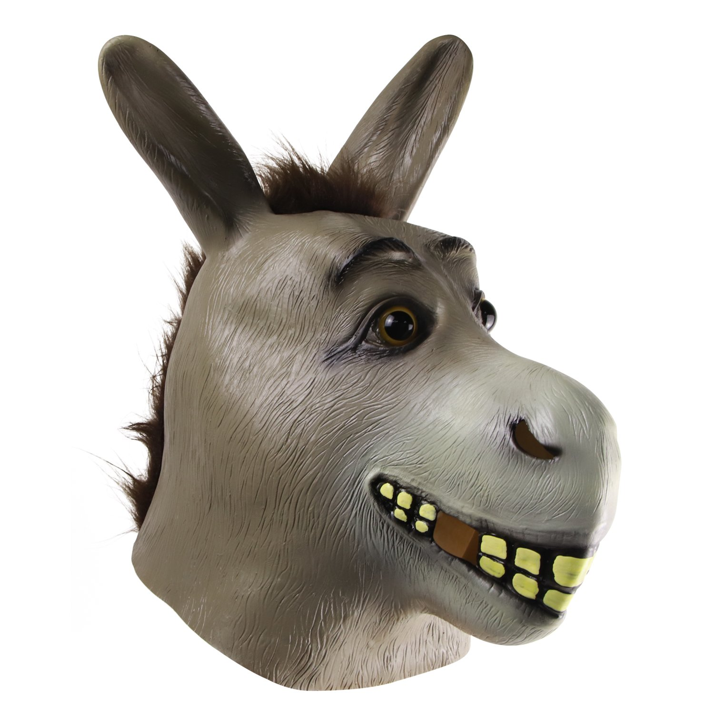 MOLEZU Donkey Mask Halloween Shrek Treat or Trick Mask Cosplay Latex Animal Mask