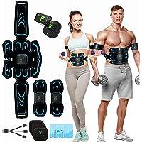 Elektrostimulator voor buikspieren, EMS-stimulator, USB-buikriem, verstevigende riem, LCD-display, buik/arm/been voor…
