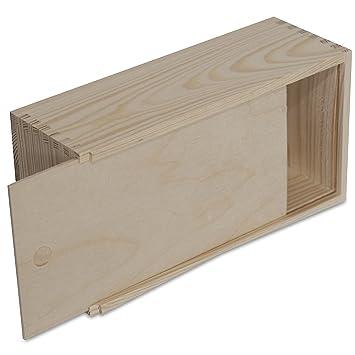Creative Deco Caja Pañuelos Madera Papel | 25 x 13 x 9 cm | Tapa Deslizante | Servilletas Rectángulo Decoupage Decorar Almacenamiento y Decoración: ...