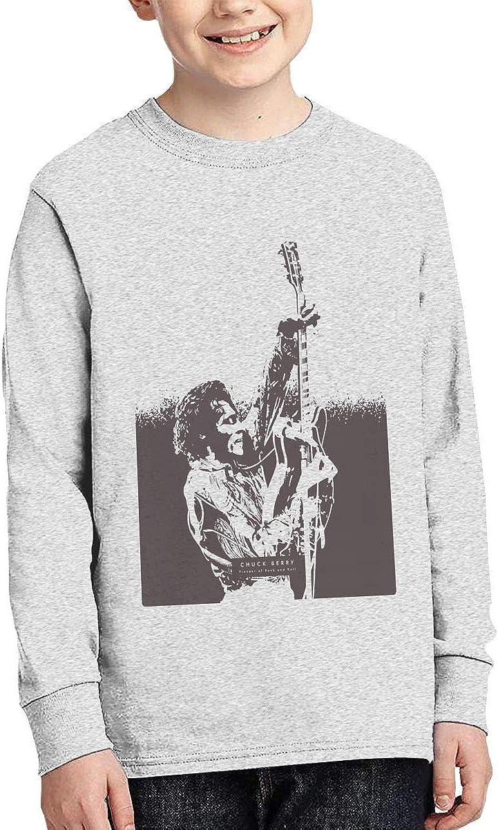 HangHisi Chuck Berry Boys /& Girls O Neck Regular Style Tee Long Sleeve T Shirt Leisure