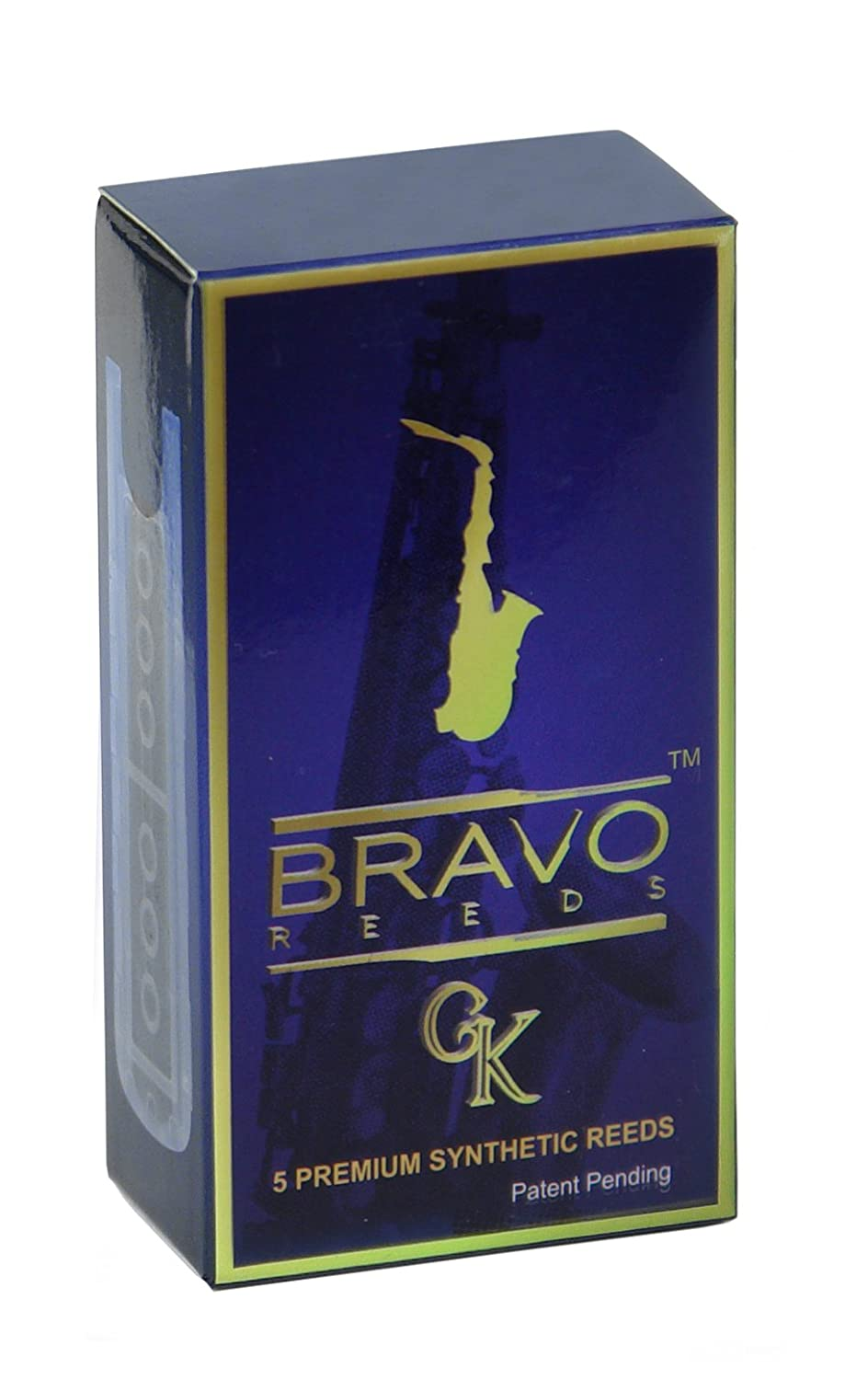 Bravo BR-AS35 Alto Saxophone Synthetic Reeds, Strength 4.0, Box of 5