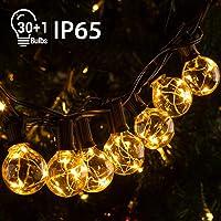 Quntis IP65 11,7M Guirnalda Luces Exterior G40 30+1