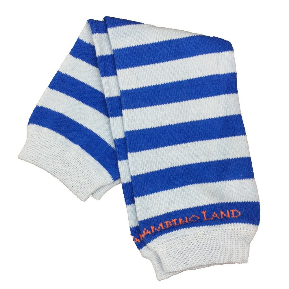 Bambino Land - Blue/dark Blue Stripes Organic Cotton Baby Leg Warmers LW-102