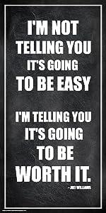 Culturenik Arthur Williams Inspirational Motivational Businessman Executive Celebrity Quote Classroom Print (Unframed 12x24 Poster)