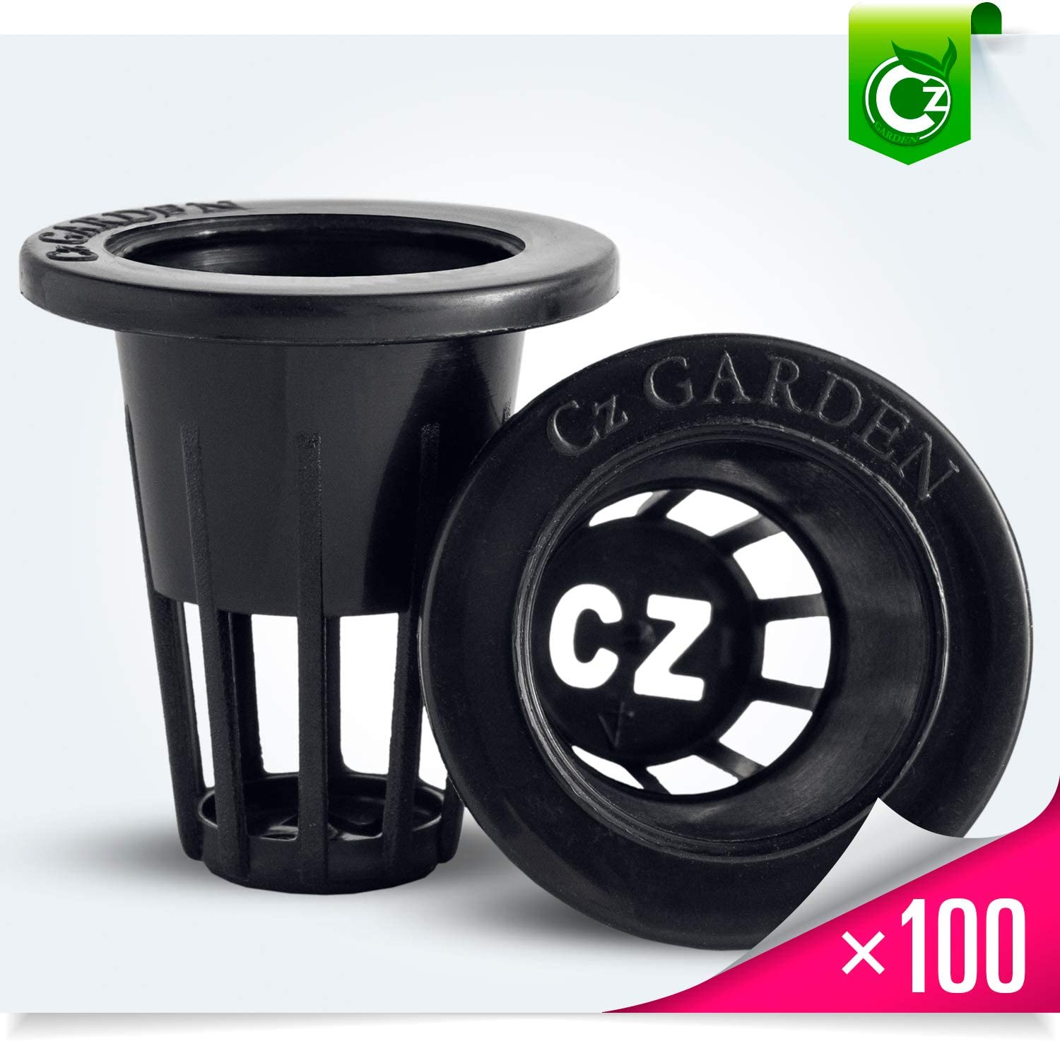 1 inch Net Pots Cz All Star Round HEAVY DUTY Net Cups WIDE LIP Design Orchids /• Aquaponics /• Aquaculture /• Hydroponics Slotted Mesh by Cz Garden 100 pack