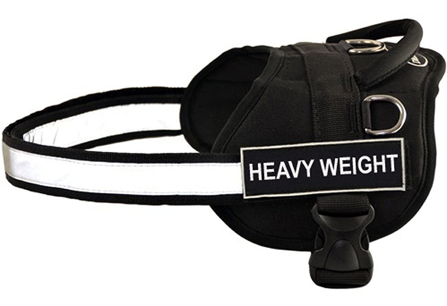 Dean & Tyler D&T WFUN HEAVYW BK-XXS Works Fun Harness, Heavy Weight, XX-Small-Fits Girth, 46cm to 53cm, Black White