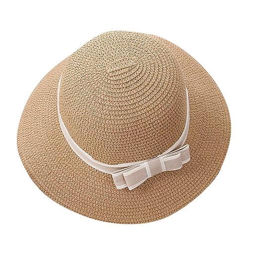 bb37be60a2ffa6 Benficial Women's Big Brim Sun Hat Foldable Bowknot Straw Hat Summer ...