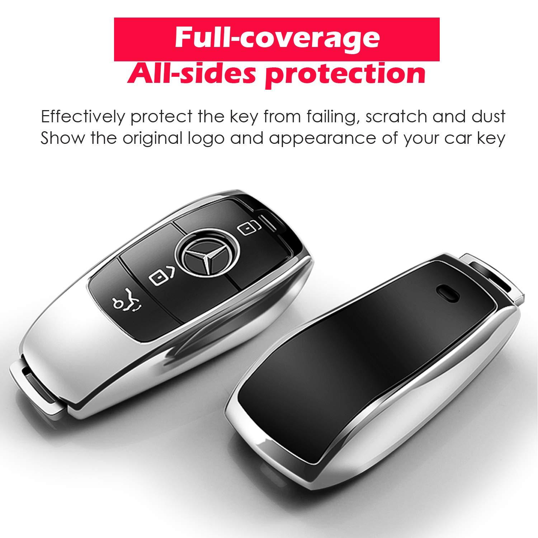 Amazon.com: COVELL para Mercedes Benz Key Fob Funda, Suave ...