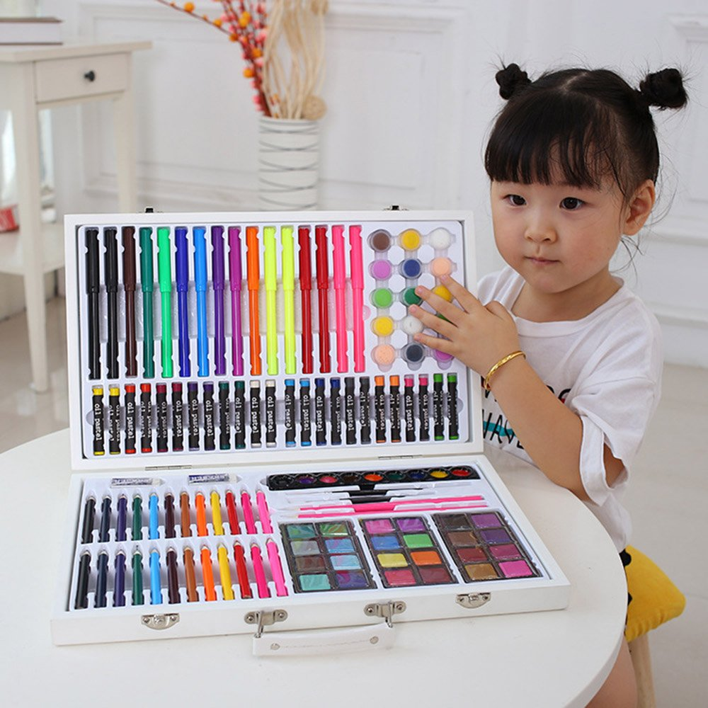 JIANGXIUQIN Artist Art Drawing Set, Good Tools for Drawing Or Sketching, 119 Pieces of Graffiti, Colors, School Items to Add Colorful Styles, Creative Gifts. Gifts for Children and Children. by JIANGXIUQIN (Image #2)