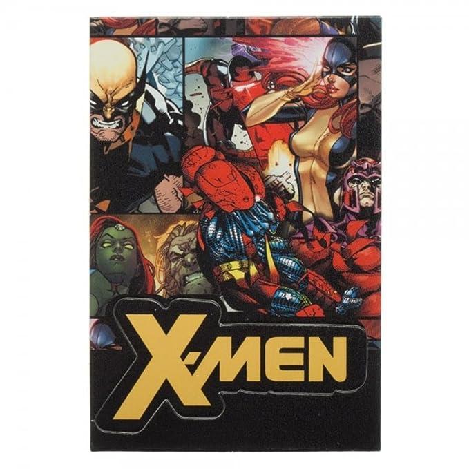 Marvel Comics X-MEN Collage ID Holder Break Away LANYARD Keychain w/ Logo Charm