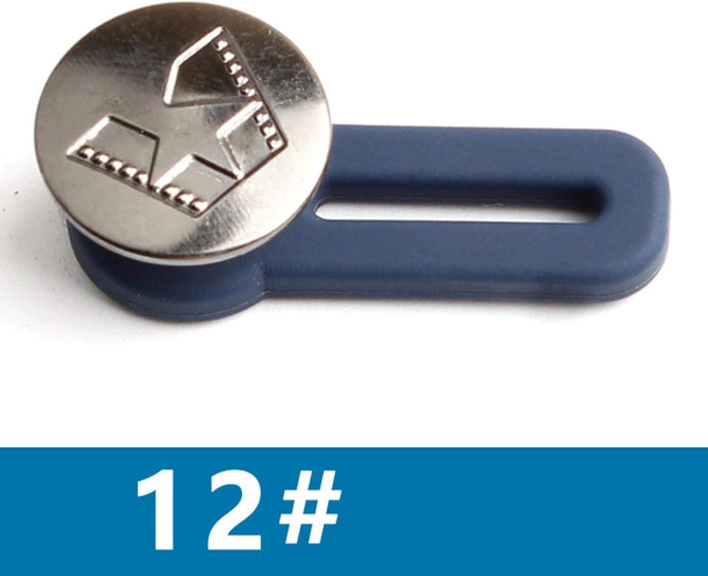 CHWK Bot/ón extendido de Metal a presi/ón para Ropa Jeans Ajuste Bot/ón de Cierre en la Ropa Aumento autom/ático Reducir Cintura sin Costura 10