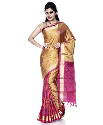 62dfadbc52 Mandakini - Indian Women's Kanchipuram - Handloom - Pure Silk Saree - Patli  Pallu - New