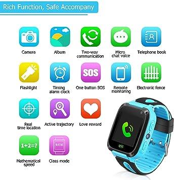 Niños Smart Watch Phone, GPS Tracker Smartwatch para niños de 3-12 ...