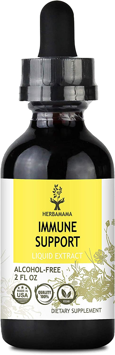 Immune Support Liquid Extract 2 fl oz | All-Natural Dietary Supplement | Herbal Formula | Strengthens The Immune System | Echinacea, Elderberry, Goldenseal, Ginger: Health & Personal Care