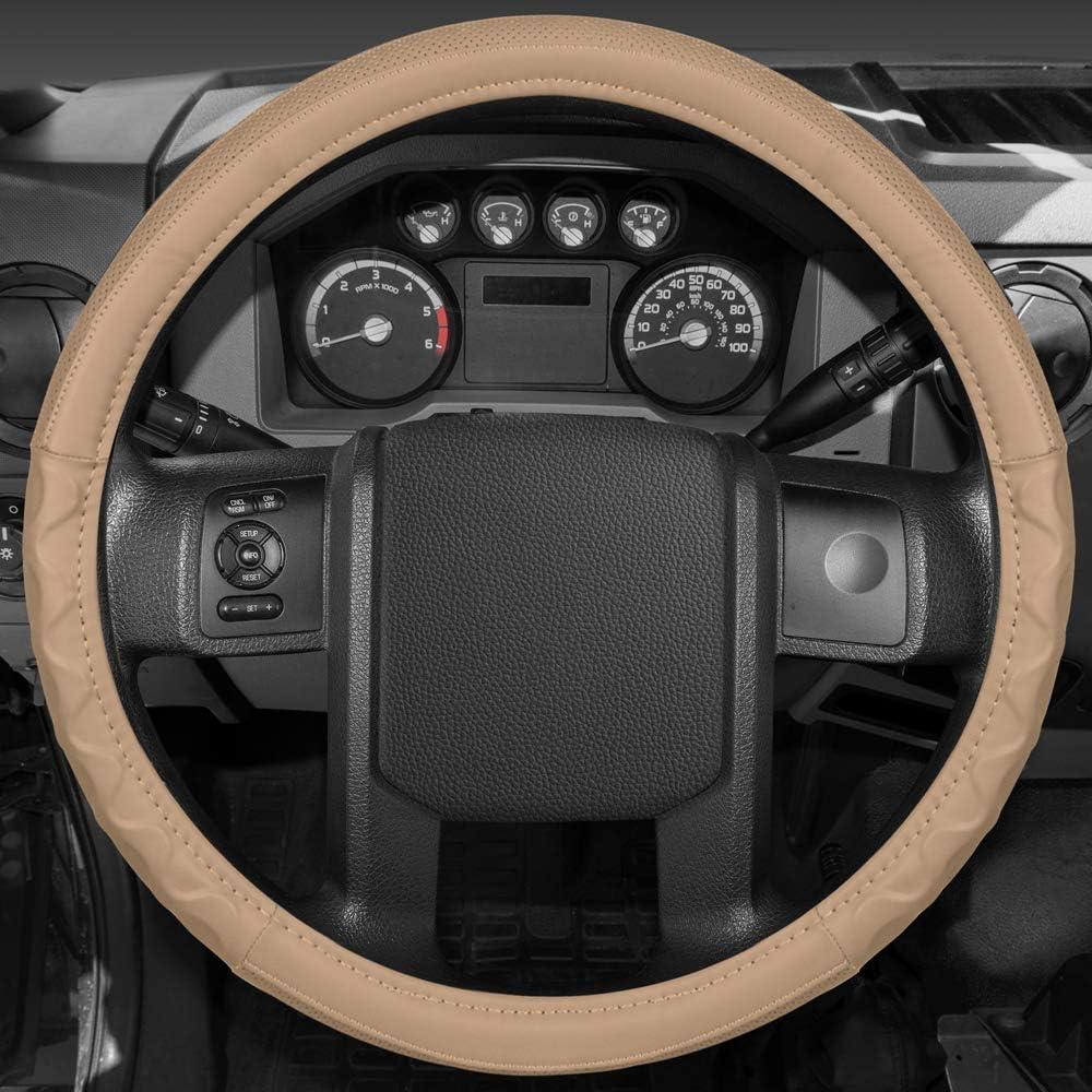 BDK SW-791-GR Motor Trend Gray 18 Big Rig Steering Wheel Cover XL