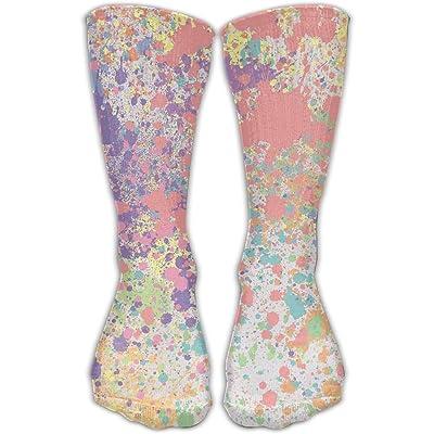 Crew Socks Ankle Support 30CM Low Cut Socks Splash Watercolor Print Ankle Compression Socks Foot Sleeve Unisex