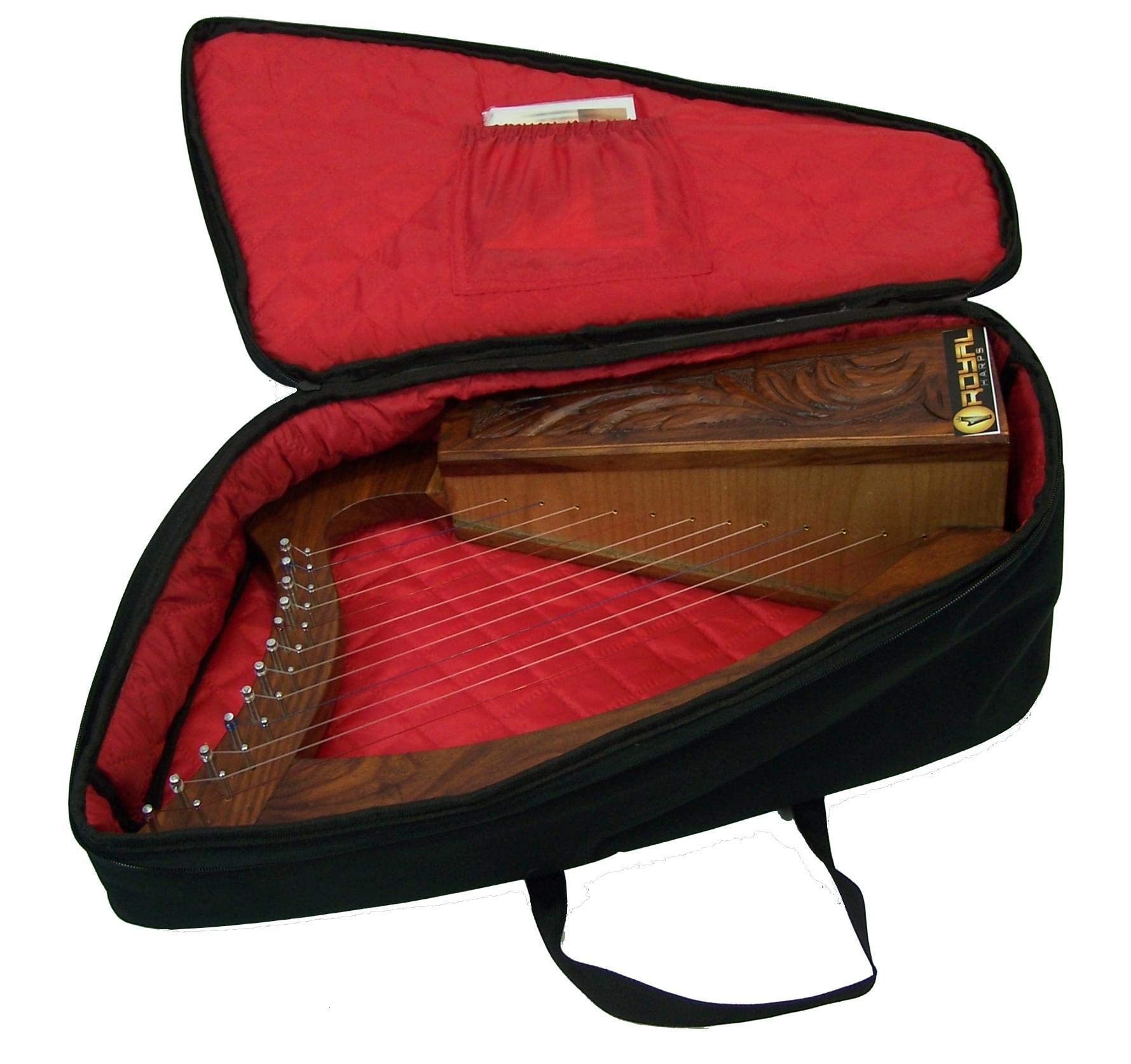 Celtic Irish Baby Harp 12 Strings Solid Wood Free Bag Strings Key by ROYAL HARPS (Image #2)