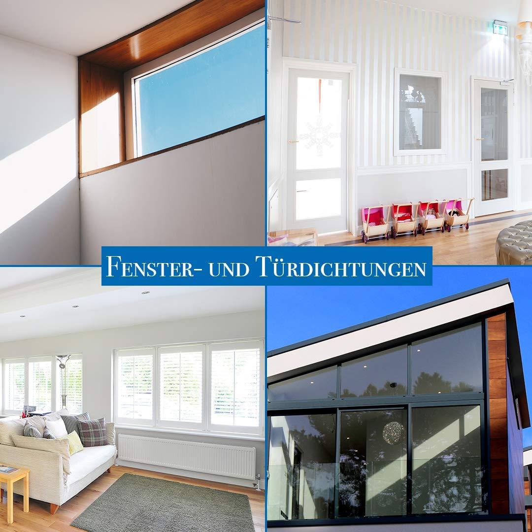Junta para ventanas para sistemas de ventanas Negro junta de acristalamiento para exteriores con hilo antiestiramiento para ventanas de pl/ástico y junta de ventana de aluminio