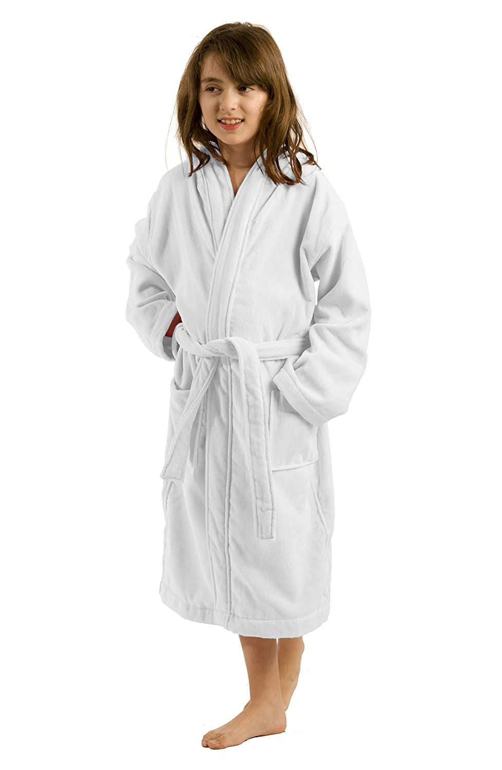 100/% Cotton Kids Bathrobe robesale Unisex Terry Cloth Hooded Robe for Girl and Boy