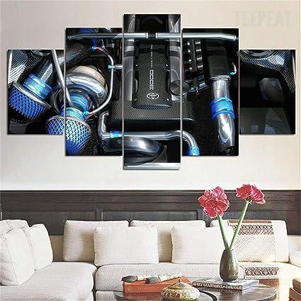 Amazon.com: JESC Super Twin Turbo Engine Wall Art for Men ...