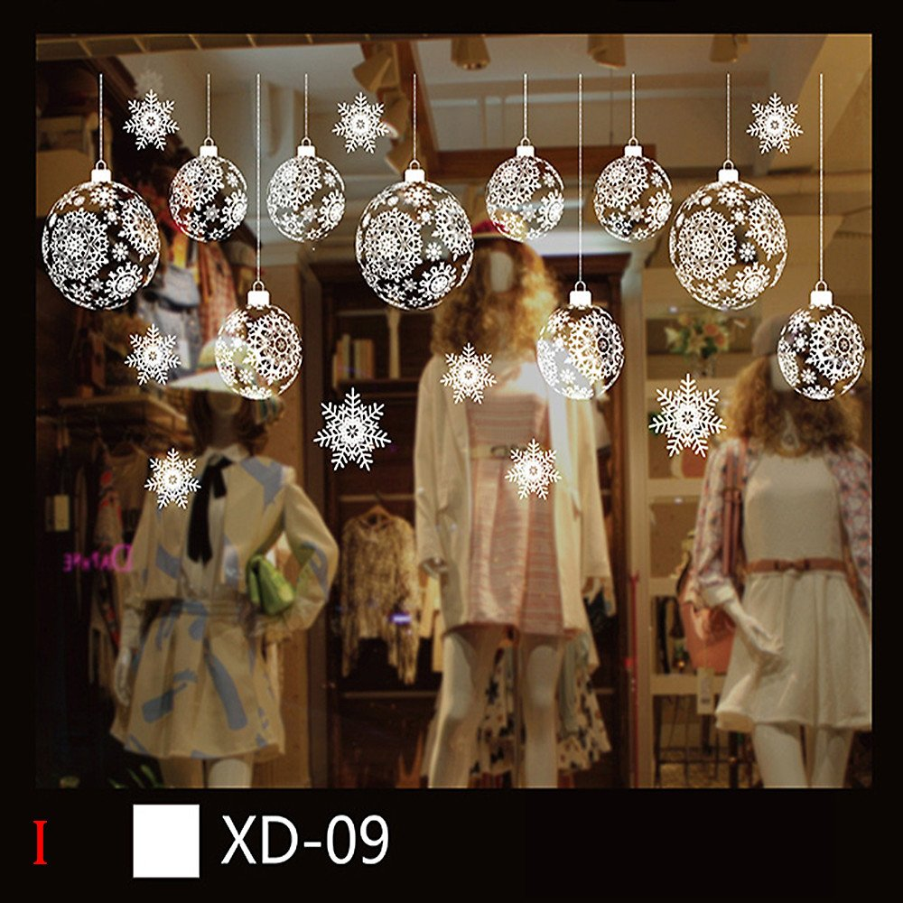 Weiliru 3D Christmas Snowman Removable Home Vinyl Window Wall Stickers Decal Decor