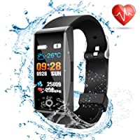 Fitness trackers watch waterproof Smart watches Heart rate monitor fit Sports watch pedometer step counter calorie GPS tracker fitness watch bit Sleep monitor for men women kids Android and iOS Phones