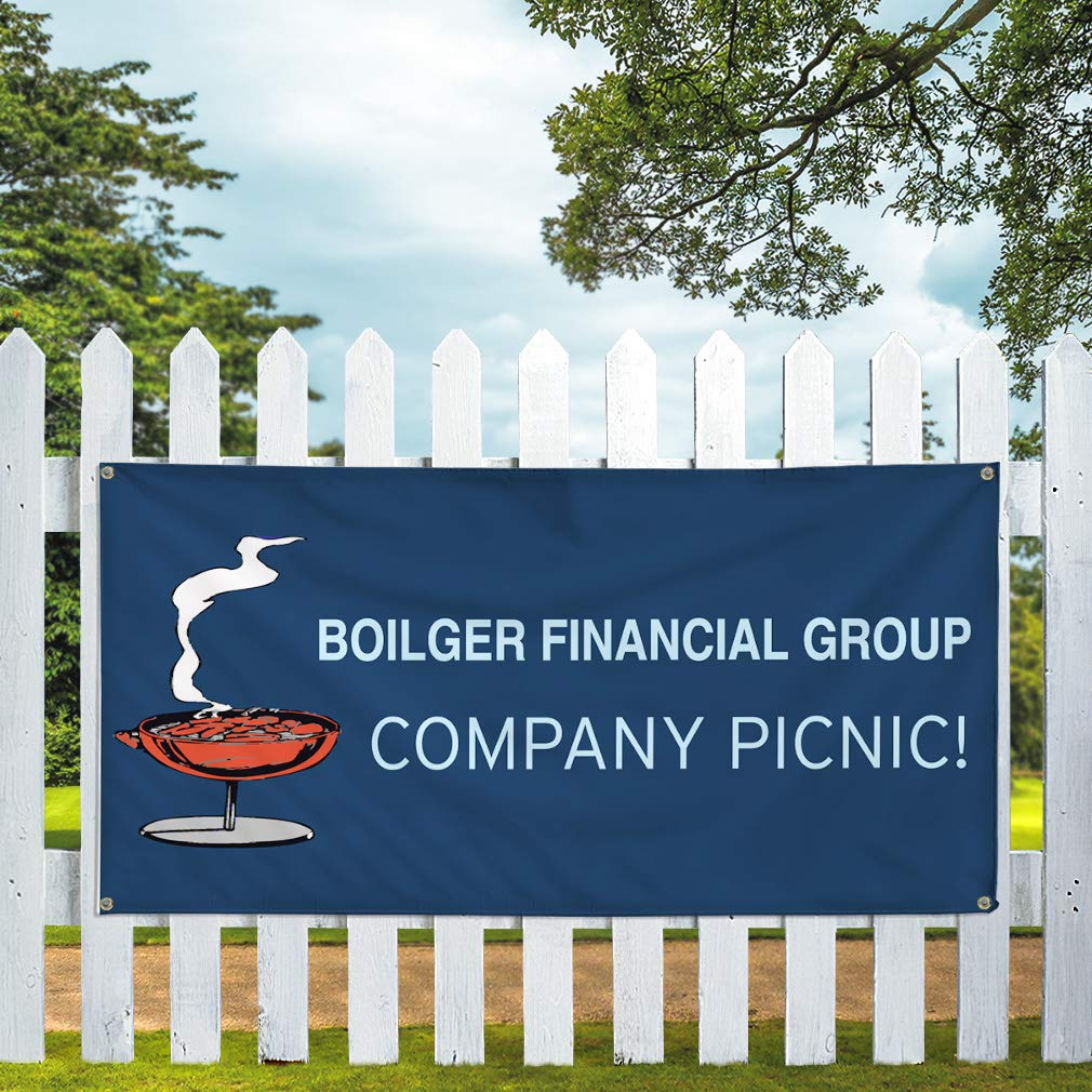 Multiple Sizes Available Set of 3 24inx60in Vinyl Banner Sign Financial Group Company Picnic Lifestyle Marketing Advertising Blue 4 Grommets