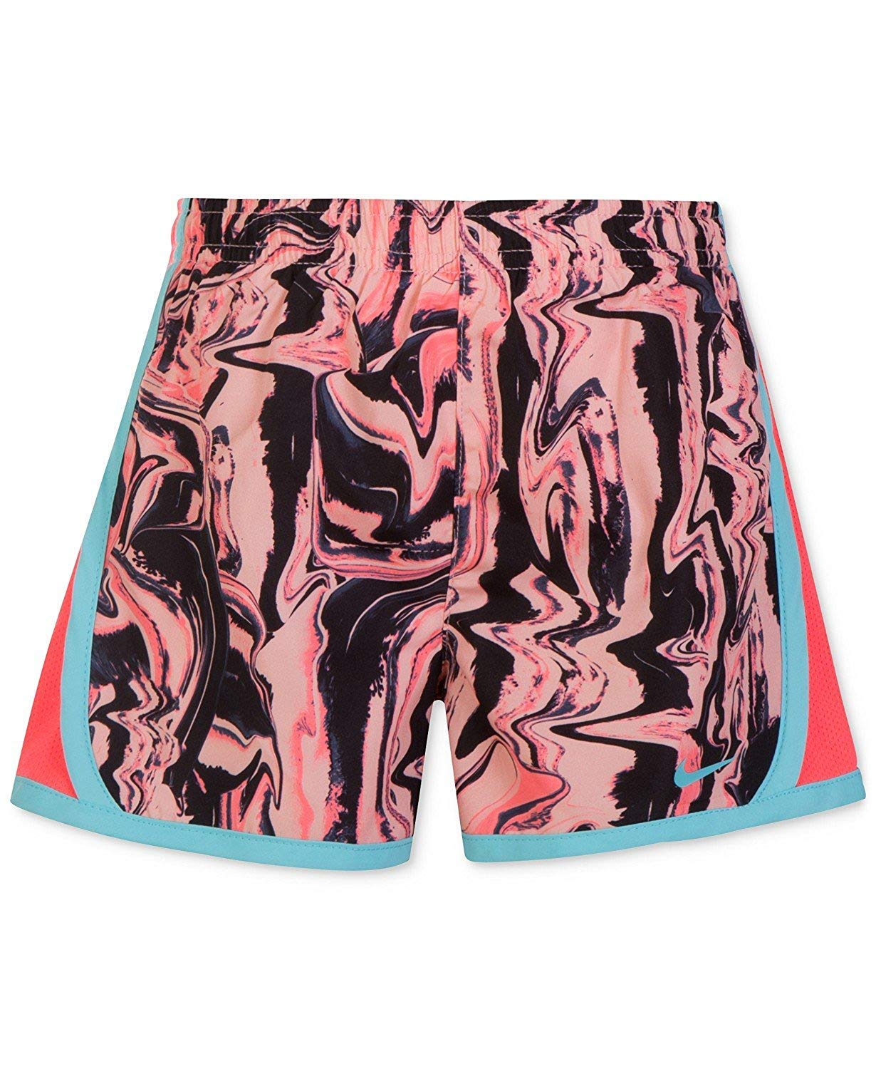 Nike Girl`s Dri-FIT Running Tempo Shorts (Bleached Coral(3MC856-A6P)/Pink, 6) by Nike