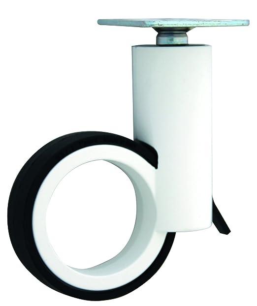Diseño de Ruedas para muebles (con placa y freno zamak Blanco/Negro 100 mm: Amazon.es: Bricolaje y herramientas