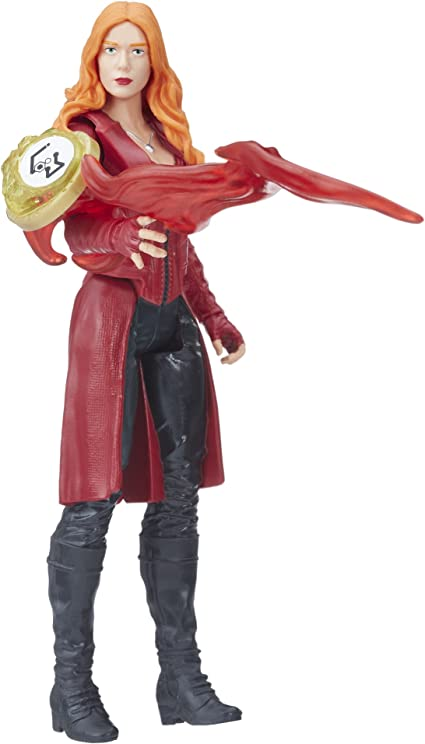"Marvel Avengers SCARLET WITCH 6/"" Basic Figure /& Stone Infinity War Hero Vision"
