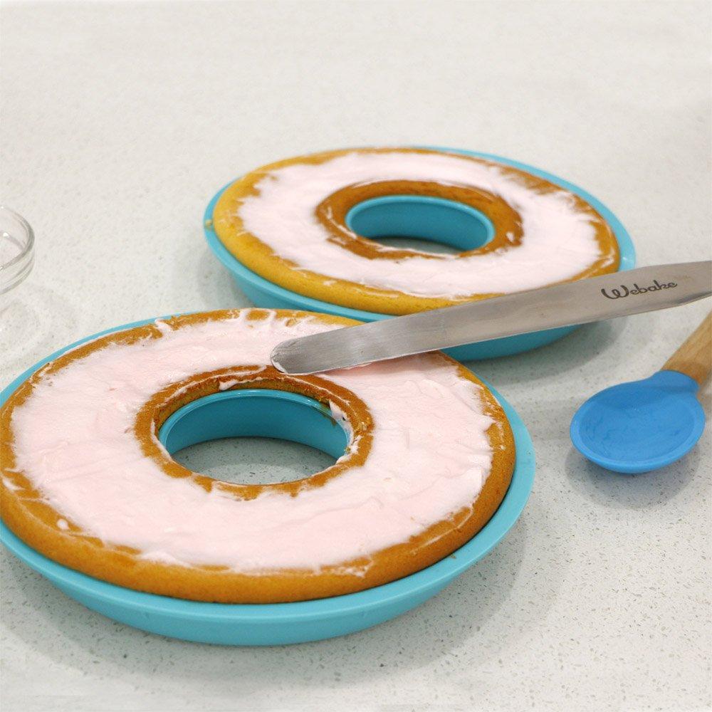 Webake Jumbo Silicone Donut Mold Non-Stick Cake Pan Set of 2 by Webake (Image #6)