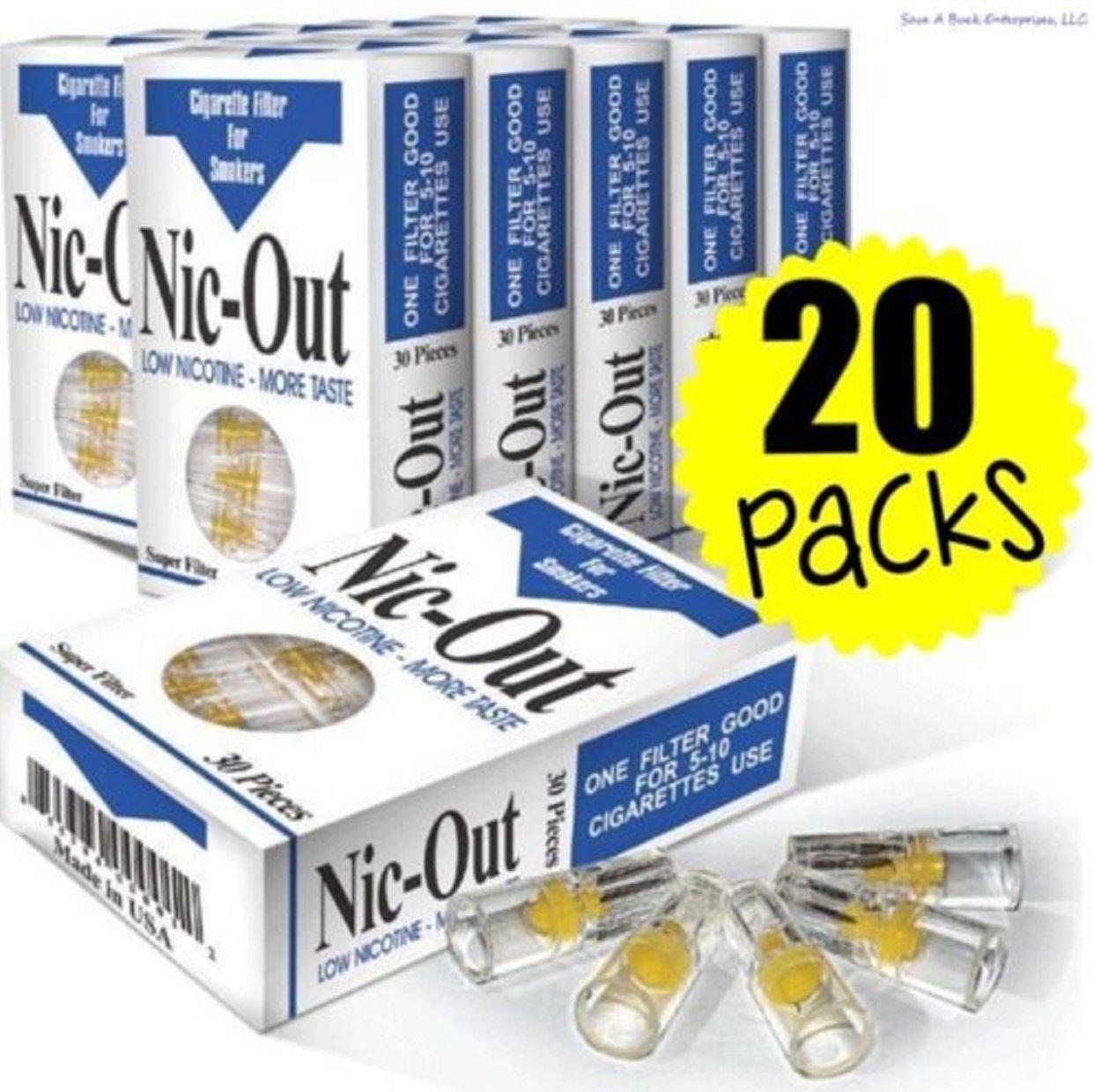 フィルタシガレットパック合計20 nic-out ZenチューブNIC Tar Out Rolling Less Tar and Nicotine ( 600フィルタ)   B01M00G8WP