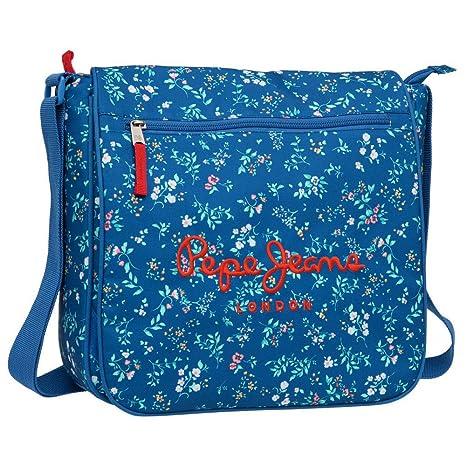 mejor online Precio reducido mitad de descuento Pepe Jeans 6035151 Bandolera, Diseño Flores, Color Azul