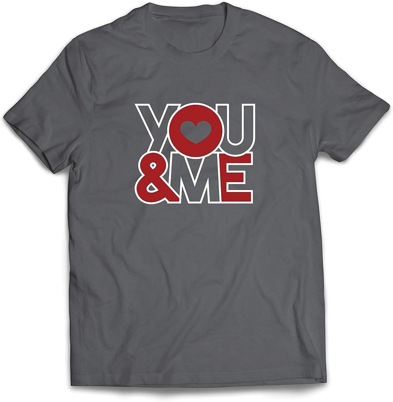 lepni.me Camisetas Hombre ¡Tu y yo! Te Amo, Dulce corazón Idea de Regalo del día de San Valentín