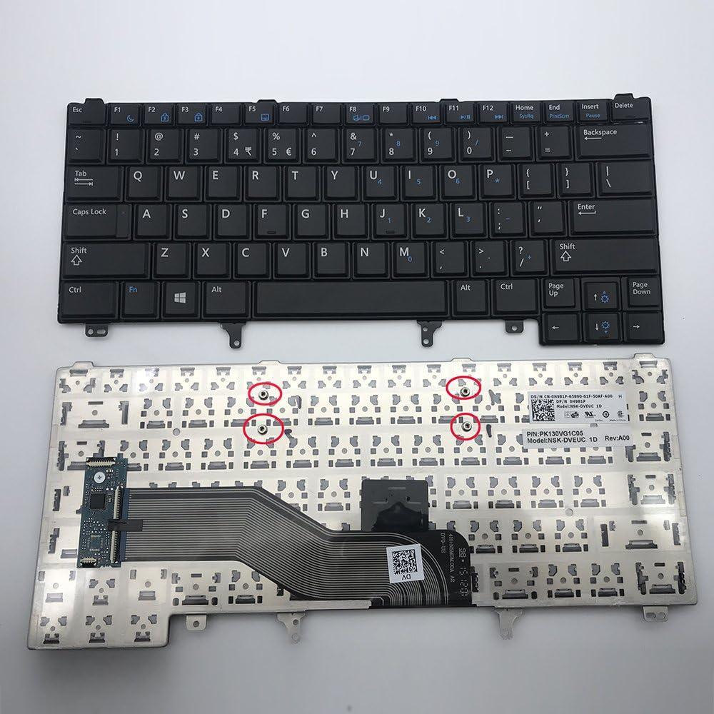 Keyboard go go go Replacement Keyboard for Dell Latitude E5420 E5430 E6220 E6320 E6330 E6420 E6430 E6440 Series US Layout Black (Without Pointer Stick)