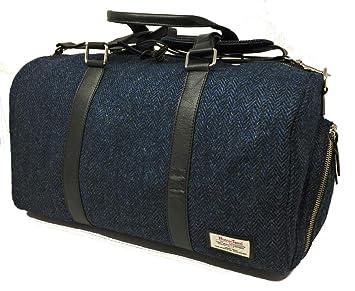 87684bf960 Harris Tweed Sac de Voyage Sac de Week-End (Bleu): Amazon.fr: Bagages