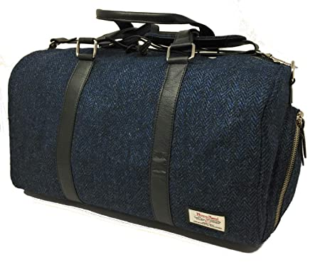 9a950b4ba Harris Tweed Holdall/Overnight/Weekend Bag/Cabin Size (Blue): Amazon.co.uk:  Luggage