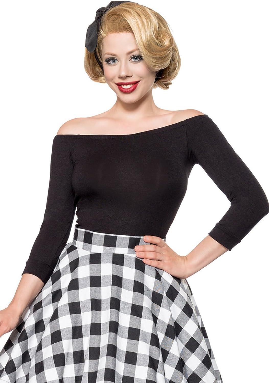 Belsira Womens Shoulder-Length Retro Shirt